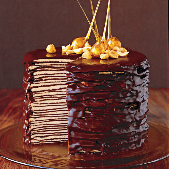 Mais escuro Chocolate Crepe Cake