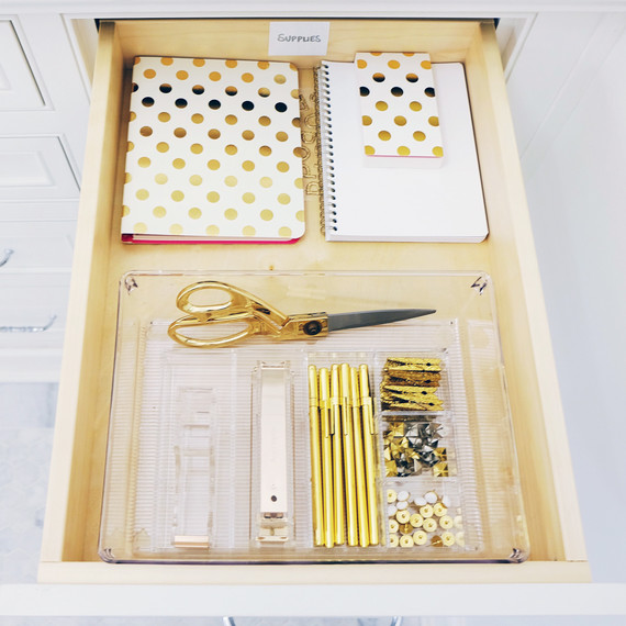 de home edit organized office drawer