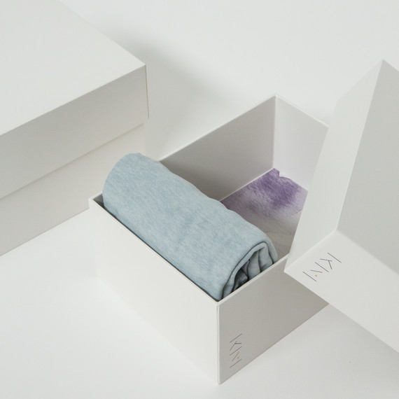 balta marie kondo box with clothes folded in it