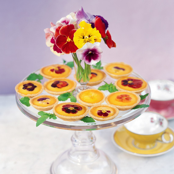 pansy tartlets edible flowers