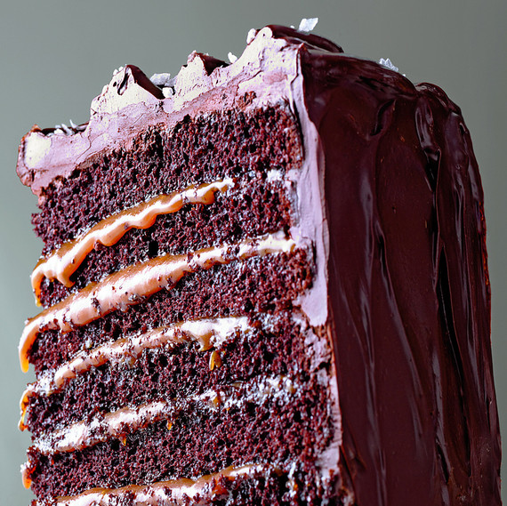 Caramelo salgado Six-Layer Chocolate Cake